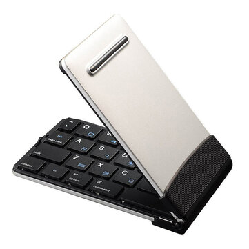 SAWAKE Folding BT3.0 USB Rechargeable bluetooth Wireless Keyboard for iPad/ Mobile Phone/ Tablet PC iOS Android Windows System