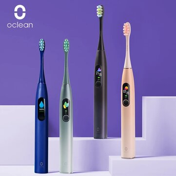 Oclean X PRO Smart Touch Screen Sonic Electric Toothbrush 32 Levels IPX7 Waterproof 2hrs Fast Charging Intelligent Tooth Cleaner Support App for IOS & Android