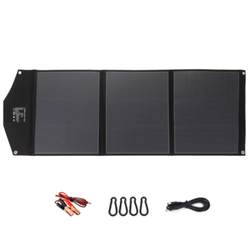 iMars SP-B150 150W 19V Solar Panel Outdoor Waterproof Superior Monocrystalline Solar Power Cell Battery Charger for Car Camping Phone
