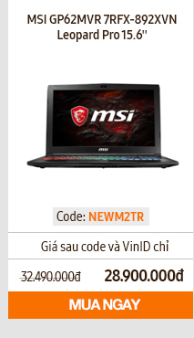 Laptop MSI GP62MVR 7RFX-892XVN Leopard Pro 15,6 inches